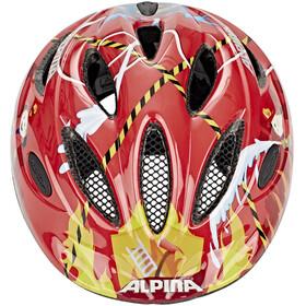 Alpina Gamma 2.0 Cykelhjälm Barn röd/flerfärgad
